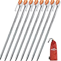 Soomloom ペグ チタン製 固定ロープ付き テント用 タープ用20/24/30/35/40㎝ 4本/6本/8本セット