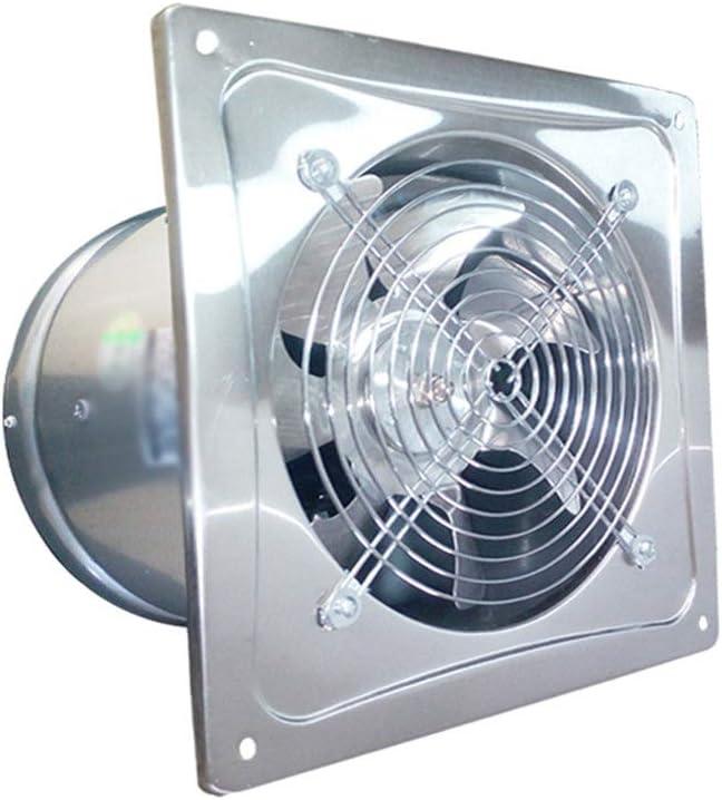 Yousiju Extractor de baño, ventilador extractor de cocina circular de 6/8 pulgadas, ventilador de pared de ventana de baño/cocina/sala de estar de alta velocidad (Size : 8 inches)
