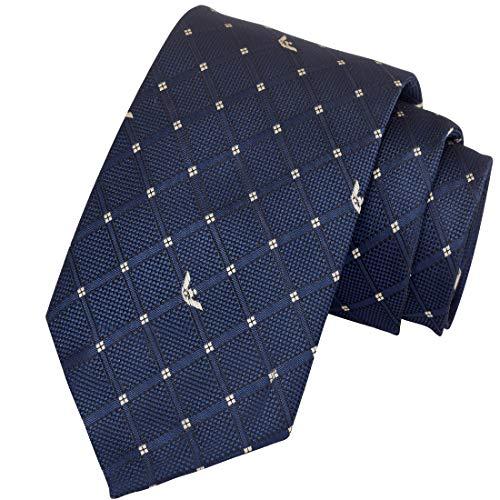 Exotica Men's Micro Silk Navy Blue Hearts Love Necktie Neck Tie Exotica Neckwear (Length -151 cm Width -7cm) (Royal Blue)