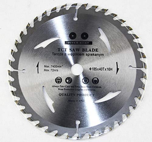 Hoja de sierra circular para madera (185 x 16 mm, 40 dientes)
