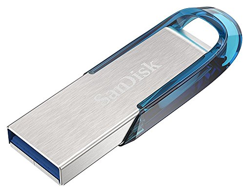 SanDisk Ultra Flair 128 GB USB Flash-Laufwerk USB 3.0 mit bis zu 150 MB/Sek, blau