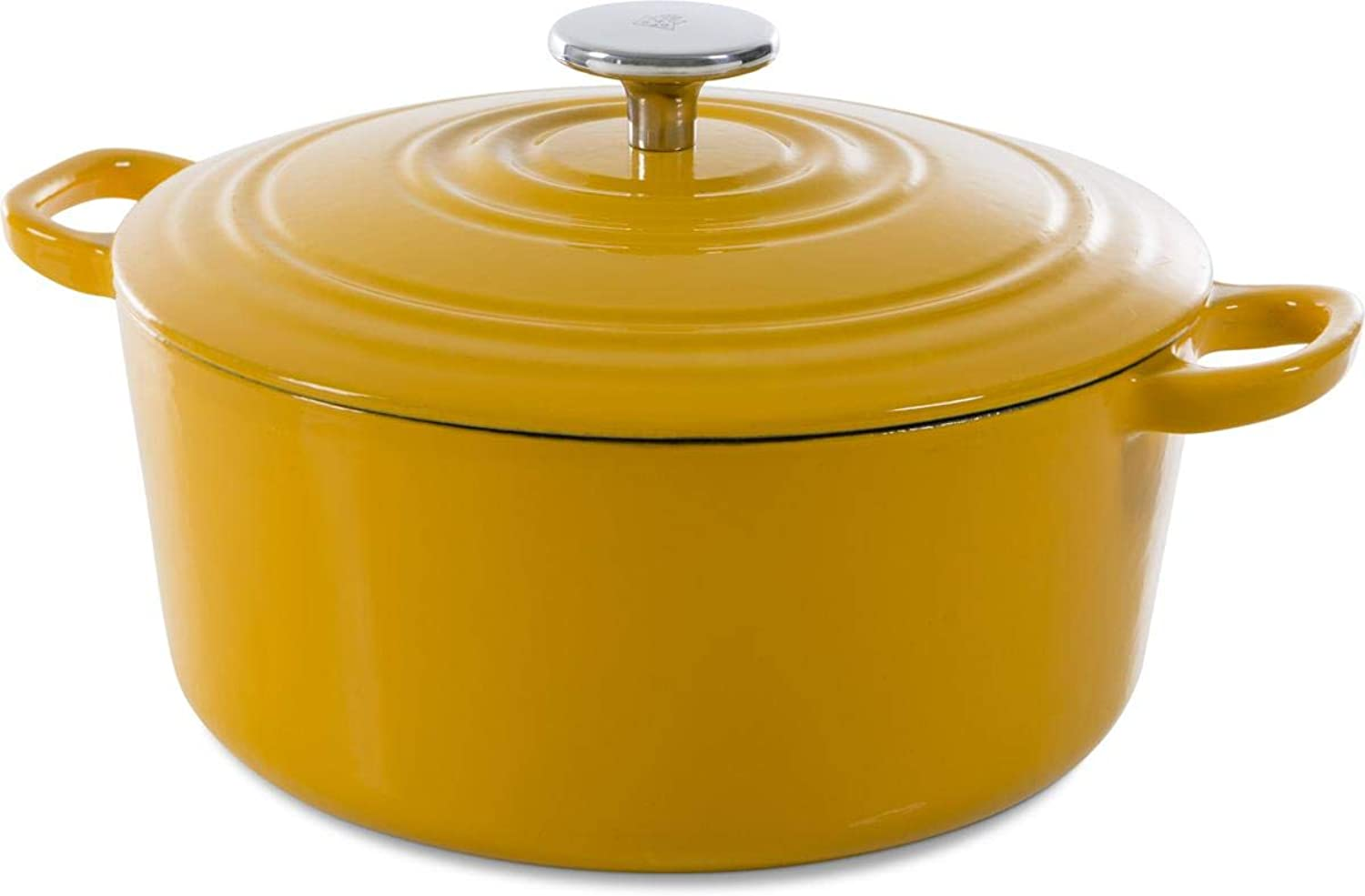 BK H6075.528 Nature Cast Iron Pan 7QT Yellow