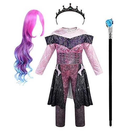 Simile Descendants Vestito Carnevale Audrey Donna Bambina Scettro Corona Dress 3 Cosplay DESC02 (Solo Corona - Crown Only, Taglia Unica)