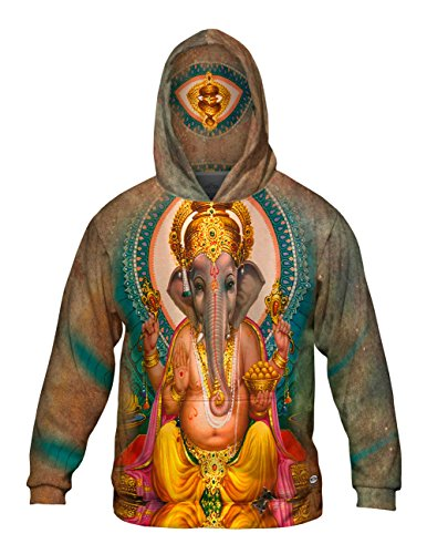 Yizzam- India - Ganesh Hindu God -Allover Print - Mens Hoodie -4X
