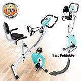 SereneLife Indoor Folding Stationary Exercise Bike - Foldable Stationary Bike...