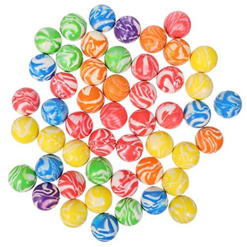 TOYANDONA 50Pcs 32Mm Bolas de Alto Rebote Coloridas Y Pequeñas Bolas de Rebote de Goma para Niños Bolas de Salto para Niños Suministros de Regalo para Fiestas de Juegos