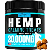 Relieves Stress & Anxiety - Our Dog Calming Treats will keep your furry friend calm and composed during stressful situations, such as visits to the vet, long road trips, or being left alone at home Natural Calming Aid - Is your dog showing signs of p...