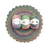 Hilados De Lana Durable Color Arcoíris Merino Lana Melange Tejido A Mano Hilo De Ganchillo Teñido Hilo De Coser Madeja Para Muñeca Suéter 50G-7-19