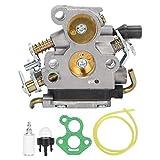 Fdit Motosierra carburador Manguera de Combustible Bombilla de imprimación Conjunto de Filtro de Combustible Apto para Motosierra Husqvarna 235 235E 236 240 240E