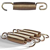 Kinetic Sports Sprungfeder-Set 4 Stück | 22 x 120 mm | Ersatz Bauteil für Gartentrampoline | Universal Trampolin Federsatz, Spiralfeder aus rostfreiem Stahl