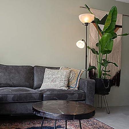 Qazqa Lampadaire | Lampe sur pied Rustique - Dallas Lampe Blanc Brun rouille - E27 - Convient pour LED - 1 x 100 Watt