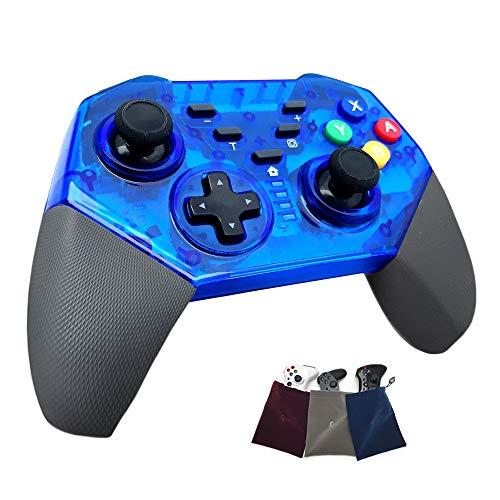 YYKJ Commutateur contrôleur avec Double Vibration d'accélération et de Boutons de déclenchement, poignée Confortable, adapté pour Switch/commutateur Pro Gamepad Manette de Jeu Blue