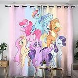Cortinas opacas para sala de estar, diseño de dibujos animados, cortinas opacas con materiales de aislamiento térmico de 106 x 114 cm
