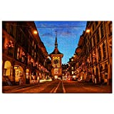 Suiza Torre del Reloj Berna Puzzle 1000 Piezas para Adultos Familia Rompecabezas Recuerdo Turismo Regalo
