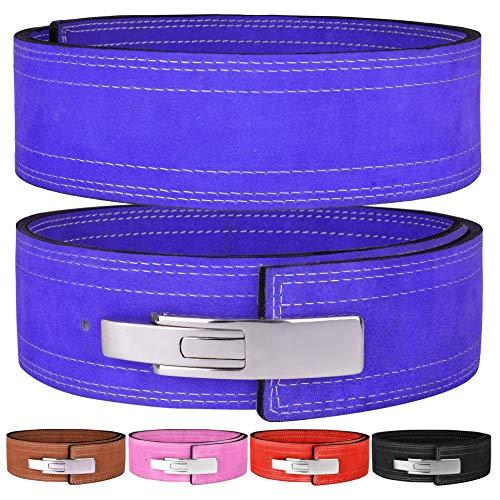 """Hawk Sports Lever Belt 10mm Powerlifting Belt for Men & Women Buckle Strongman Power Weight Lifting Weightlifting Belts (Blue, M (32""""-38""""))"""