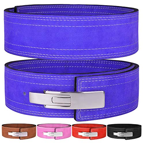 Hawk Sports Lever Belt 10mm Powerlifting Belt for Men & Women Buckle Strongman Power Weight Lifting Weightlifting Belts (Blue, L (38'-44'))