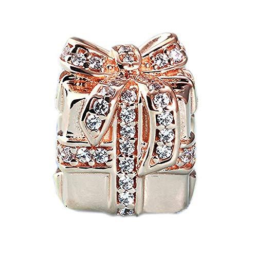 MOCCI Granos Europeos del Regalo del Oro de otoño Rose Que chispean 925 auténticos de Plata de DIY Ajustes para la joyería Original de Las Pulseras de Pandora