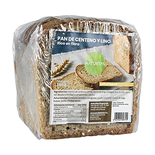 Pan de centeno y lino 350 g