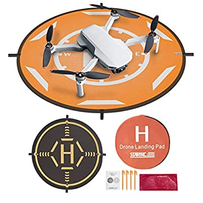 "Drones Landing Pad,STARTRC Universal Waterproof Portable Foldable Landing Pads for DJI Mini 2/Mavic Mini/Mavic 2 /Mavic Pro/Mavic Air 2 (20"")"