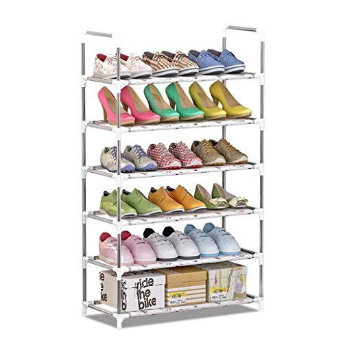 M-YN Zapatero Estante for Zapatos de 6 gradas, Espacio Que no Permite el Almacenamiento de Zapatos de Tela no Tejida Organizador de Zapatos Estante Torre de gabinete for 20 Pares de Zapatos