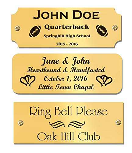Custom Engraved Solid Brass Name Plates