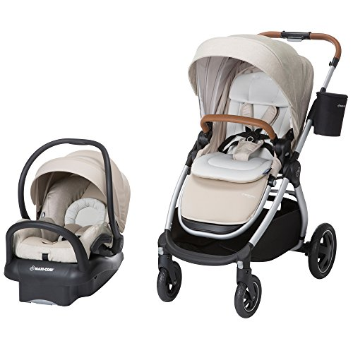 Maxi-Cosi Adorra Modular 5-in-1 Travel System with Mico Max 30 Infant Car Seat, Nomad Sand
