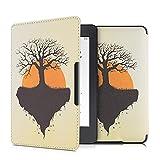 kwmobile Carcasa Compatible con Amazon Kindle Paperwhite - Funda para Libro electrónico con Solapa - Árbol de la Vida