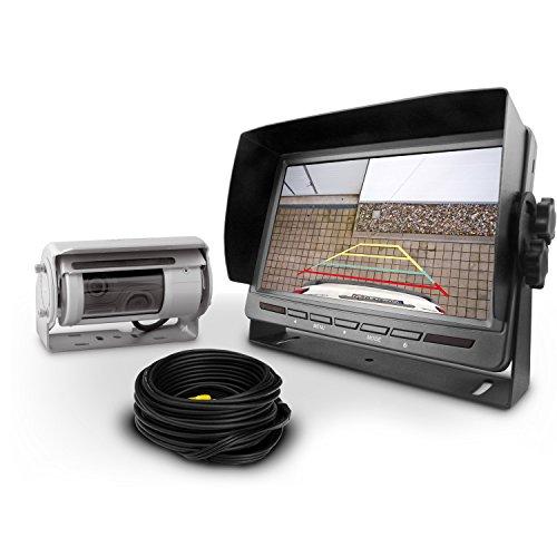 Carmedien Premium Rückfahrsystem cm-DSKRFS2 mit Twin Doppel Shutter Rückfahrkamera inkl. Scheibenwischer