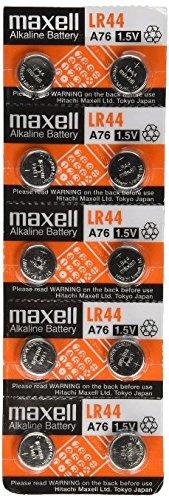 Maxell LR440-10PK LR44 Batteries (Pack of 10)