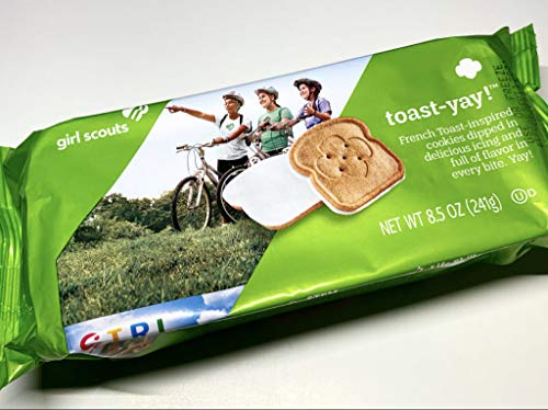 Girl Scout Cookies Toast - Yay French Toast Inspired Cookie - 1 Box of 16 Cookies