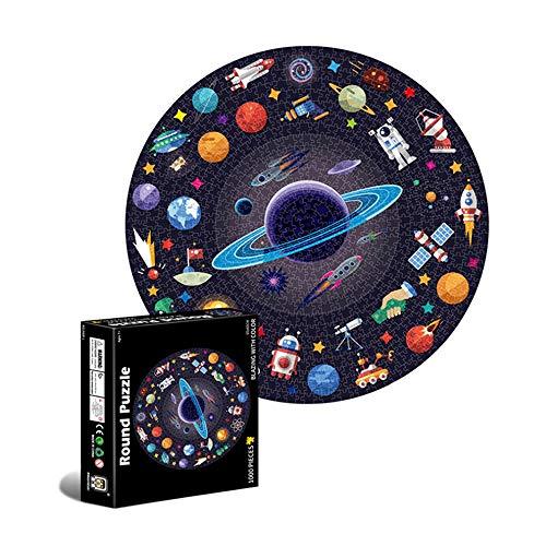 Puzzle Redondo 1000 Piezas,Puzzle 1000 Piezas,Puzzle Circular,Rompecabezas Redondo,Puzzles para Adultos Educa,Puzzle Adultos 1000 Piezas,Redondo Puzzle (A)