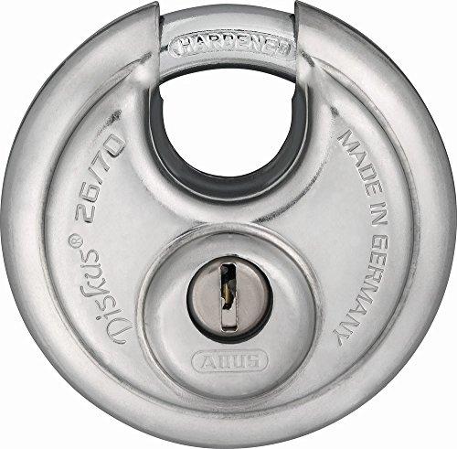 ABUS Diskus® Vorhängeschloss 26/70 - wetterfest - mit anbohr- und ziehgeschütztem Zylinder - ABUS-Sicherheitslevel 8 - Silber