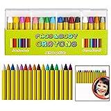 LHKJ 16 Colores Pintura Facial y Corporal para niños, Seguros y no tóxicos Pinturas Cara para Halloween, Fiestas, Navidad, Cosplay ect