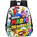 ZSWQ Super Mario Mochila Escolar Super Mario mochila de viaje,Mochila Ligera para Niños para Estudiantes de Primaria Infantil para Colegio Viajes, Regalos para Niñas y Adolescentes