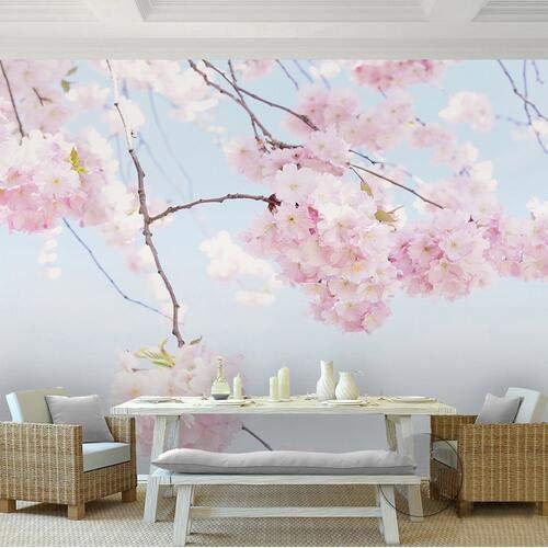 Wandbilder Moderne Wanddeko3D Japanische Tapeten Fototapeten Kirschblüte Schöne Blume Tapeten Wohnzimmer Landschaft Tapeten Benutzerdefinierte Beliebige Größe
