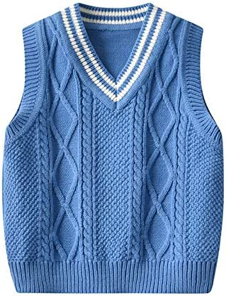 Baby Knitted Sweater Vest for Boy Girl Newborn Toddler Knitted Cardigan 0 36M Blue 6 12M product image