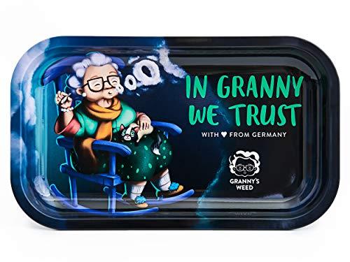 Granny\'s Exclusive Rolling Tray aus Metall | 27 x 16,5cm | Zum Drehen | Hochwertiges Design