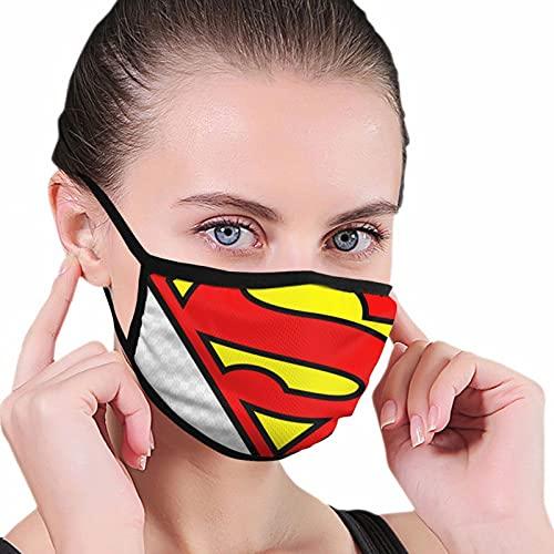 Nicegift Dc Comics Superman Bold Logoreusable - Protección facial cálida para exteriores de 15,8 x 25,8 cm