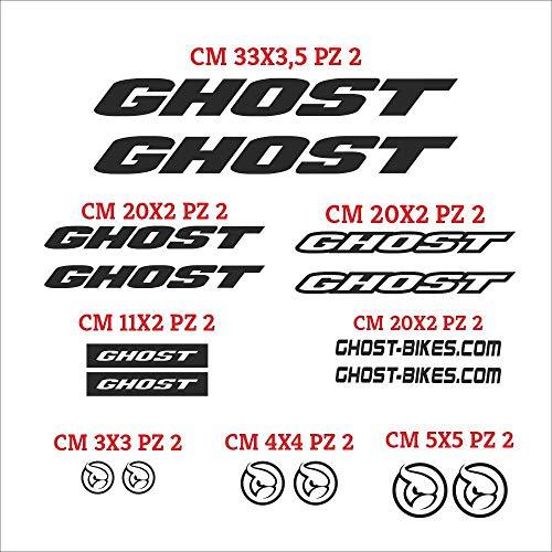 Juego de pegatinas Ghost cortadas individualmente, pegatinas compatibles, kit de pegatinas personalizadas de color