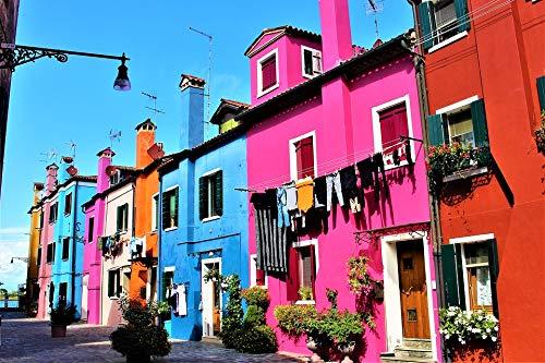 Poster - Venice, Italy, Burano, Island, Gloss finish