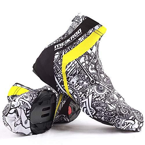 Cubierta De Zapatos De Ciclismo En Invierno A Prueba De Viento Calzado Cubiertas De Zapatos Al Aire Libre Cubrezapatos De Lluvia (L)