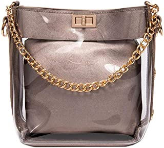 Cross Body Bags Synthetic Leather Women Spring Summer Fashion Transparent