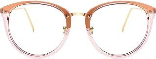 نظارات طبية معدنية دائرية غير وصفة طبية من TIJN Vintage