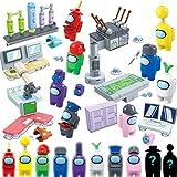 XOYZUU Bloques de construcción, Lindas Figuras de Juego muñecas, Figuras de Astronauta de Espacio de Juego muñecas Bloques de construcción Rompecabezas Conjunto Juguetes colección para niños