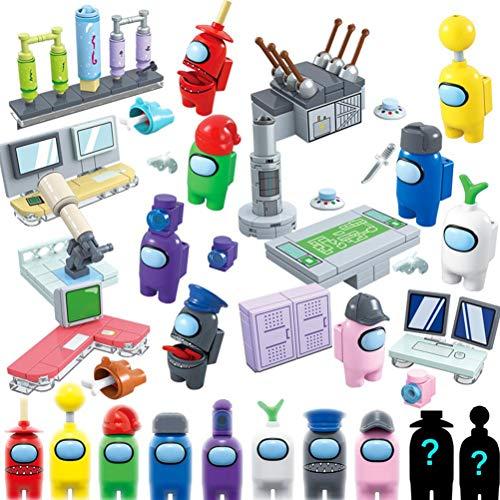 YINLANG Among Us Game Figure, Among Us Merch Cute Game Figures Muñecas Building Blocks, Space Astronaut Figures Model Building Blocks Ladrillos Figura de acción Juguetes para niños Regalo para