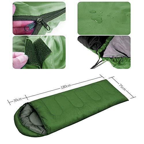 HuiHang Compact, ademend, geschikt voor reizen Katoenen slaapzak met ritssluiting 4-seizoenen reisslaapzak binnenzak - ultralicht en dun in de low-pack