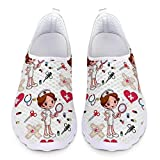 Chaqlin Ladies Girls Nurse Sneakers White Women Casual Mesh Running Shoes para Mujeres Adult Casual Sport Gym Trainers Transpirable Beach Water Footwear 38 EU