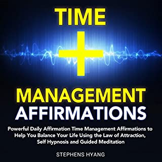 Time Management Affirmations audiobook cover art