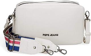 Pepe Jeans Eva Bandolera Dos Compartimentos Blanco 25x18x6,5 cms Piel Sintética