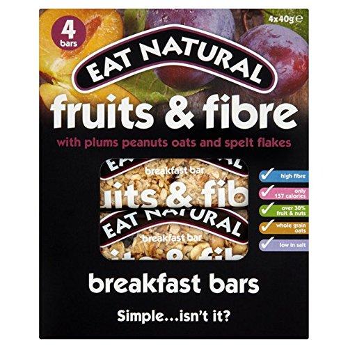 Eat Natural Fruit & Fibre Plum Breakfast Bar 4 x 40g